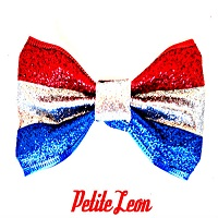 Glitter Patriotic American Hair Bow