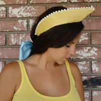 Anastasia Yellow Satin Crown