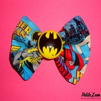 Bat Girl Pendant Charm Hair Bow