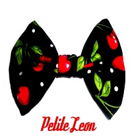 Cherry Hair Bow Large Black