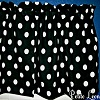 Black and Large White Polka Dots Valance