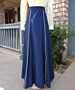Edwardian Blue Walking Skirt