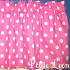Hot Pink and Large White Polka Dots Valance