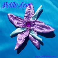 Little Mermaid Lavender Hair Flower