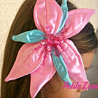 Little Mermaid Pink Hair Flower