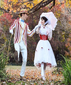 Mary Poppins Parasol Flamingo & Spats