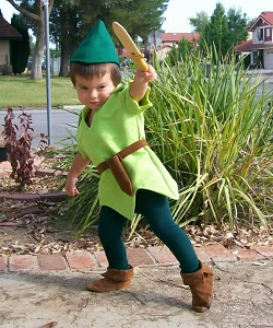 Peter Pan Lined Child Costume
