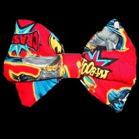 Batman Red Hair Bow
