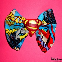 Super Girl Charm Pendant Hair bow