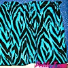 Turquoise Blue and Black Zebra Valance
